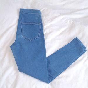 TOP SHOP - Blue High Waisted Skinny Jeans